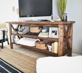 diy rustic tv console electrical home decor painted furniture rustic furniture