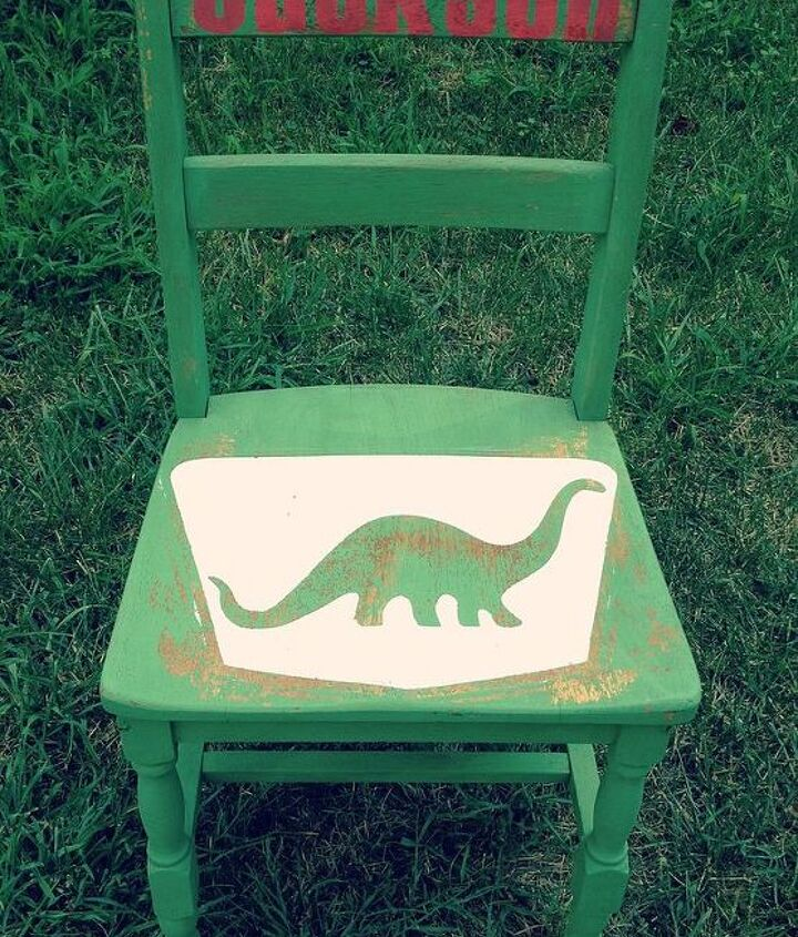 stenciled milk painted children s furniture, garages, painted furniture