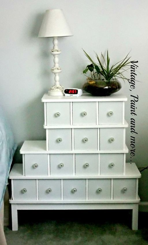 vintage nightstands, bedroom ideas, home decor, painted furniture