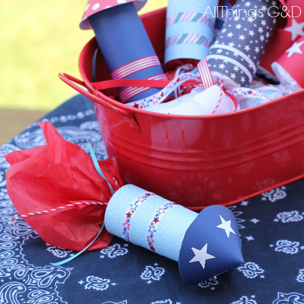 fourth of july candy rockets, crafts, seasonal holiday decor