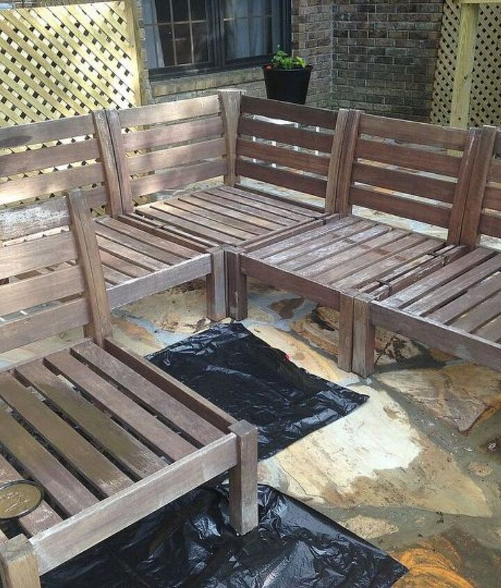 the outdoor sectional weathered frame