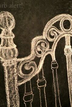 chalkboard headboard, bedroom ideas, chalkboard paint, home decor, paint colors, painting, wall decor, During the drawing and shading stage