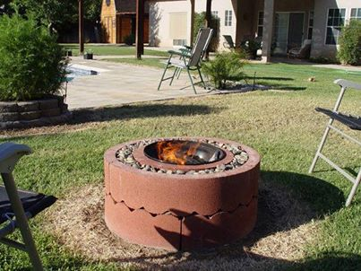 homemade fire pits from homesteading survivalism page on facebook, diy, homesteading, how to, outdoor living