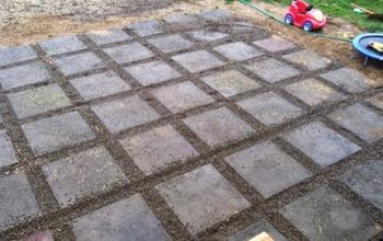 pea stone patio makeover, concrete masonry, gardening, patio, AFTER