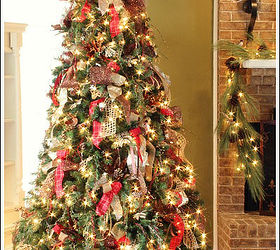 Delightful How To Decorate A Christmas Tree With Only Ribbon And Greenery, Christmas  Decorations, Crafts