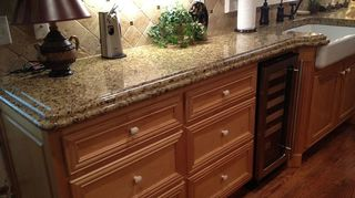 , This is the sink side special farm house sink by Kohler was added