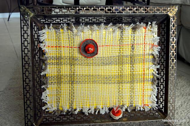 string art vintage frame, crafts, Finished Product