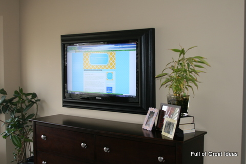 picture perfect tv how to make a flat screen tv frame with trim diy
