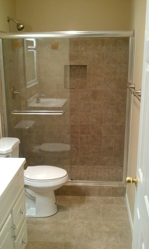Another Bath Remodel Took Out The Bathtub And Installed A Stand Up - Bathroom remodel stand up shower