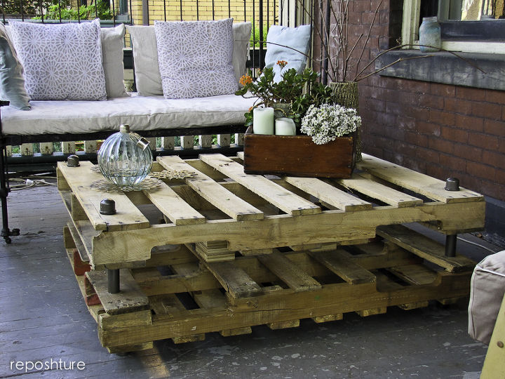industrial look pallet coffee table  diy renovations projects  pallet  projects  repurposing upcycling. Industrial look Pallet Coffee Table   Hometalk