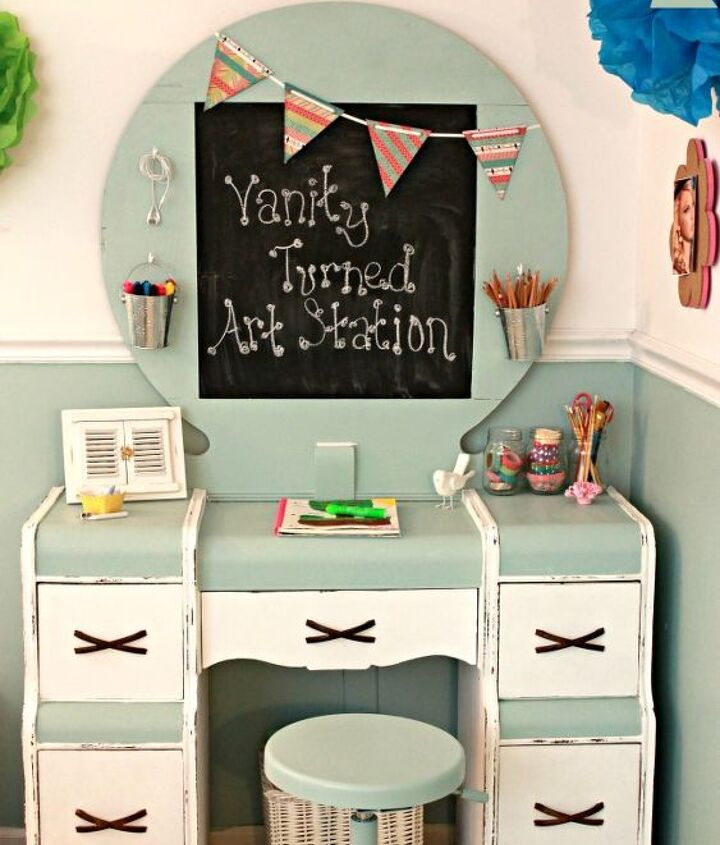 kid s art station, painted furniture