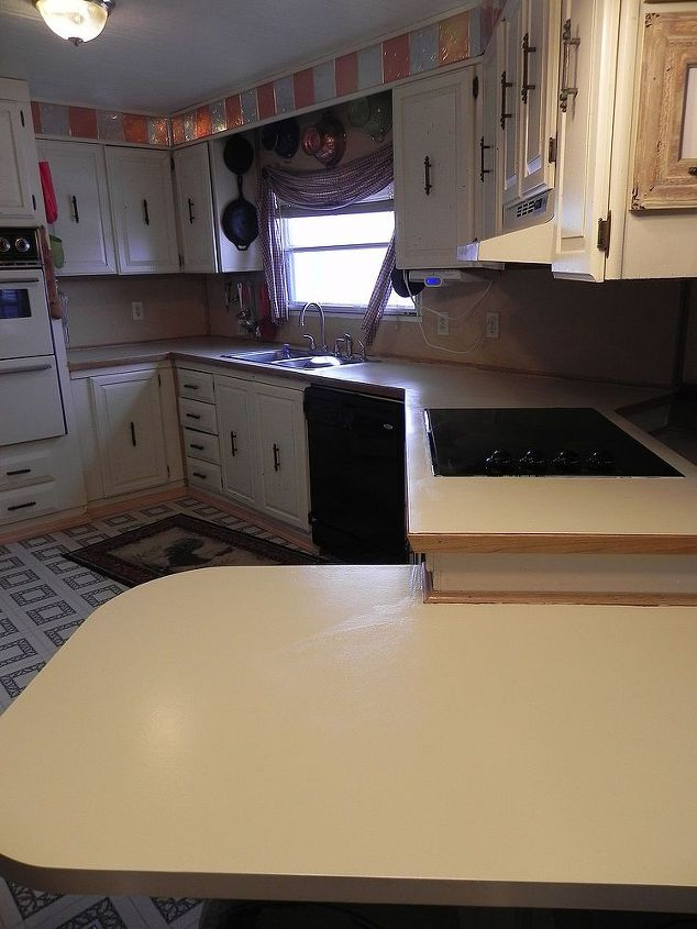 painting countertops, chalk paint, countertops, painting, I first used  Rustoleum counter paint