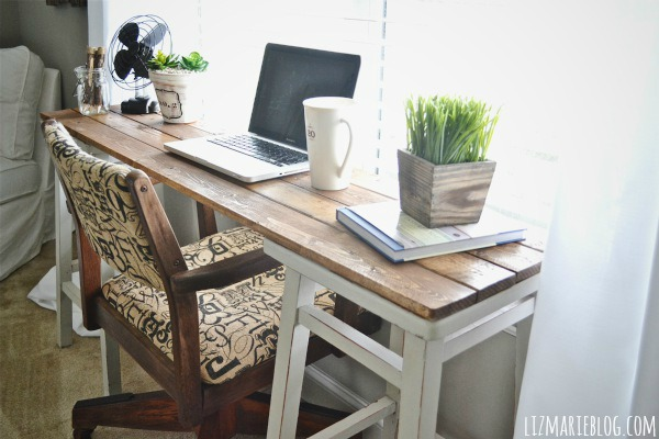 Diy Barstool Desk Painted Furniture Repurposing Upcycling