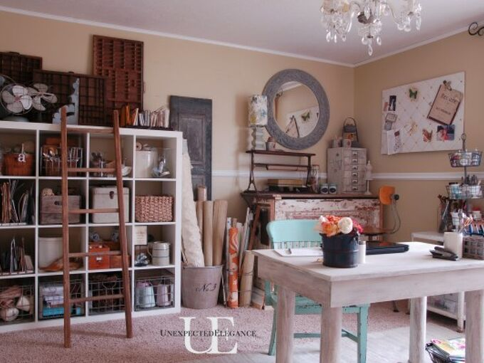 office reveal, craft rooms, home decor, home office