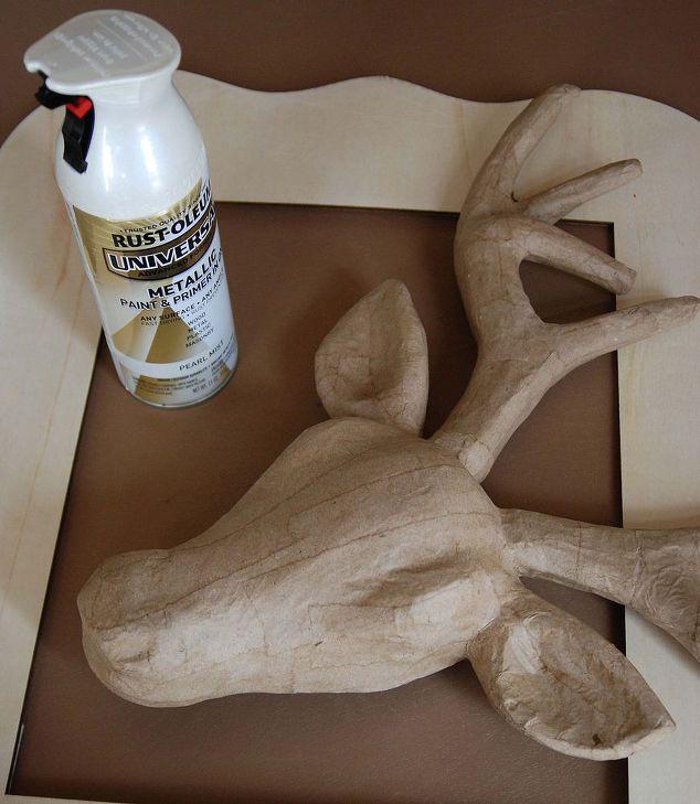 Faux deer head diy crafts home decor papier mache deer head from michaels