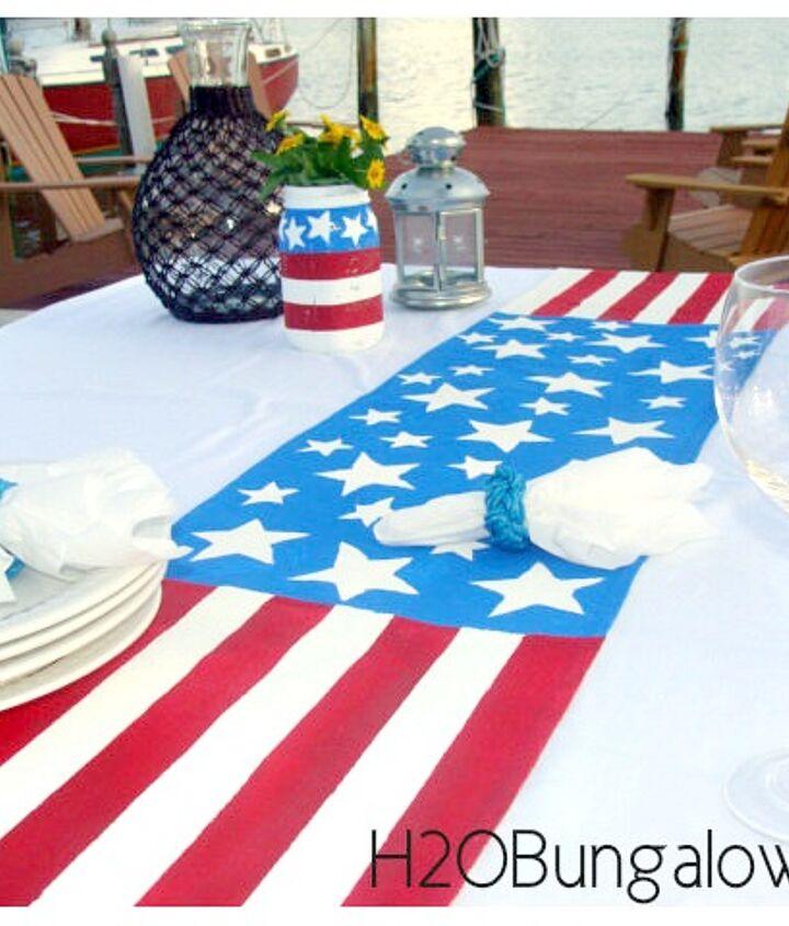 patriotic mason jars, crafts, mason jars, patriotic decor ideas, seasonal holiday decor