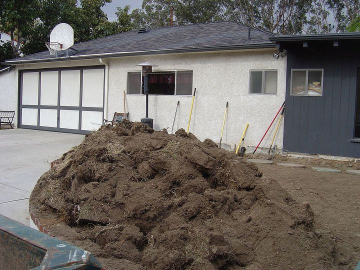BEFORE: just a dirt patch. Hubby dug up and ran all the gas and power and water.