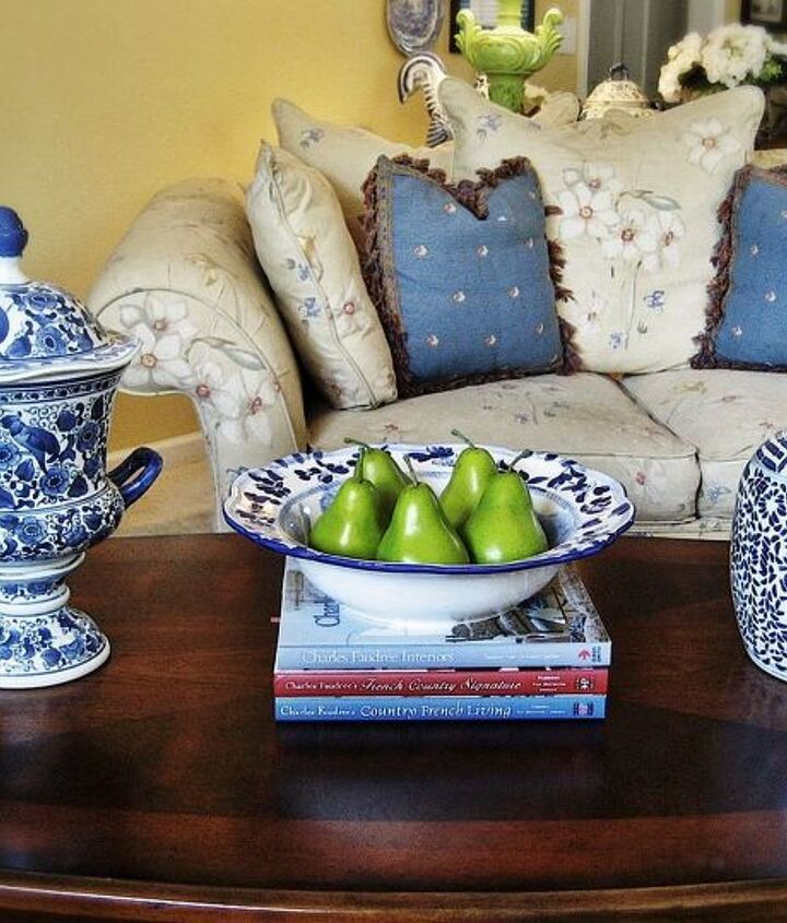 """My coffee table revamp...copied from an arrangement in Charles Faudree's new book """"Home."""""""