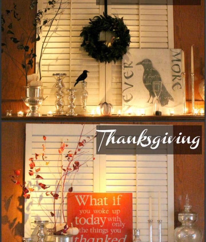 thanksgiving mantel, halloween decorations, painting, seasonal holiday d cor, thanksgiving decorations