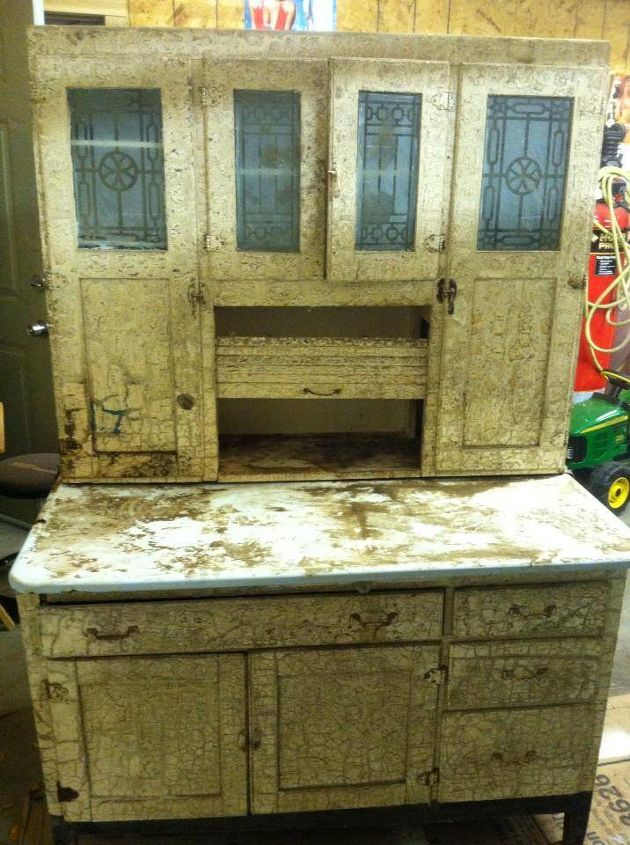 help i m looking for more info on this antique seller s cabinet, painted furniture