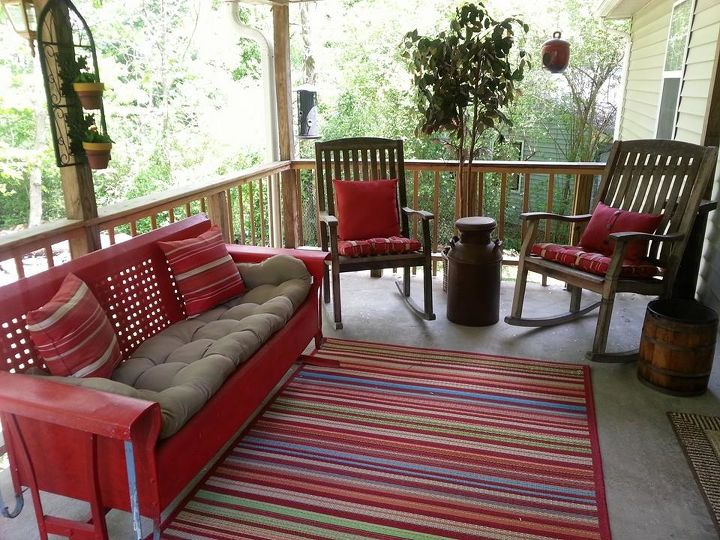 nita s back porch, outdoor furniture, outdoor living, painted furniture, porches