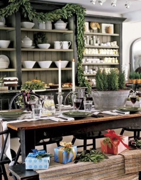 Here are 24 Inspiring Rustic #Holiday #Table Settings - Ho, ho, ho ...