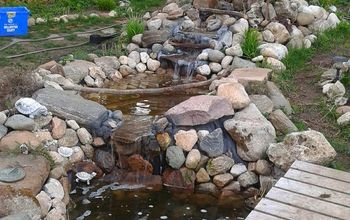 Home Made Waterfall and ponds