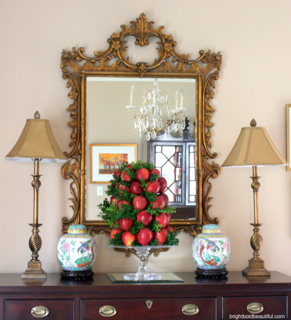 Diy apple topiary for the holidays hometalk