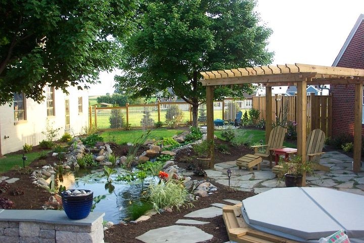 before amp after photos, landscape, outdoor living