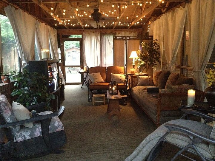 from simple screened porch to entertaining oasis cheap, outdoor living, porches