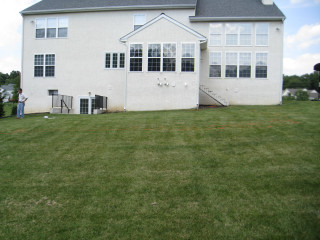 The backyard before any work was done!