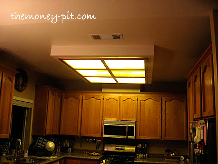 Kitchen Fluorescent Light Fixtures Decorative Updating a fluorescent box light with led lighting decorative updating a fluorescent box light with led lighting and decorative molding home decor kitchen workwithnaturefo