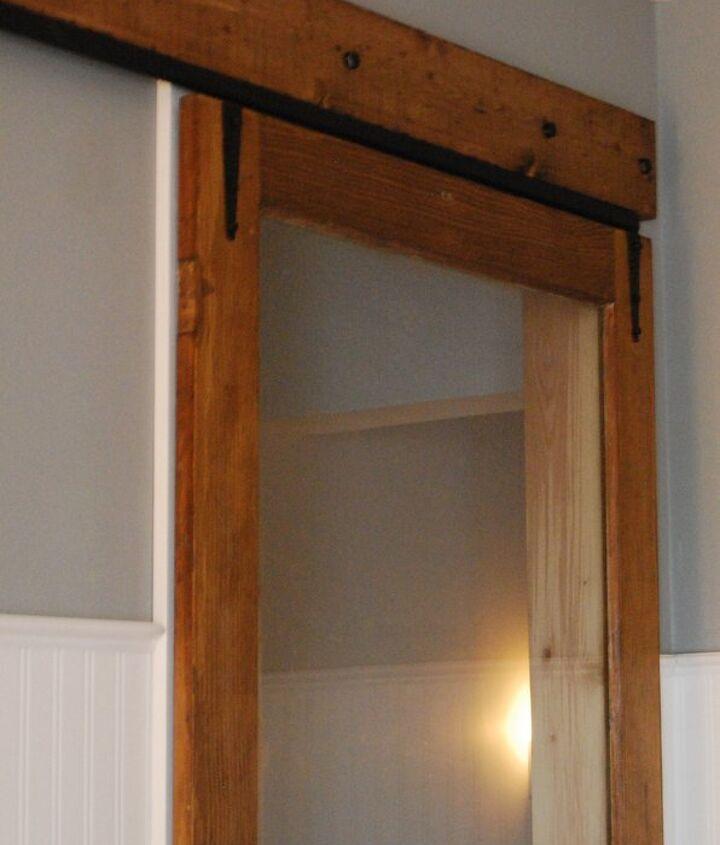 exterior storm door to interior sliding door, doors, woodworking projects