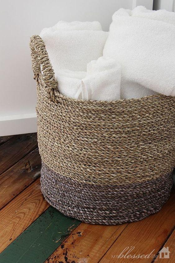 I love a basket of crisp, white towels!