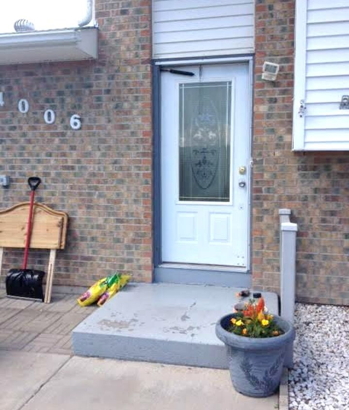our gleaming front door before and after, curb appeal, doors, painting