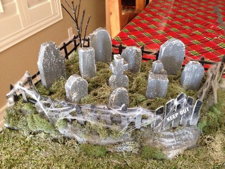 Haunted Christmas Village Cemetery 2