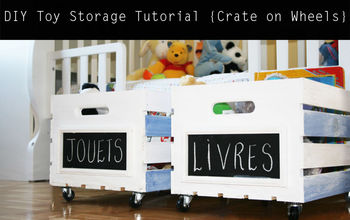 crate on wheels diy toy storage tutorial, cleaning tips, diy, how to, storage ideas