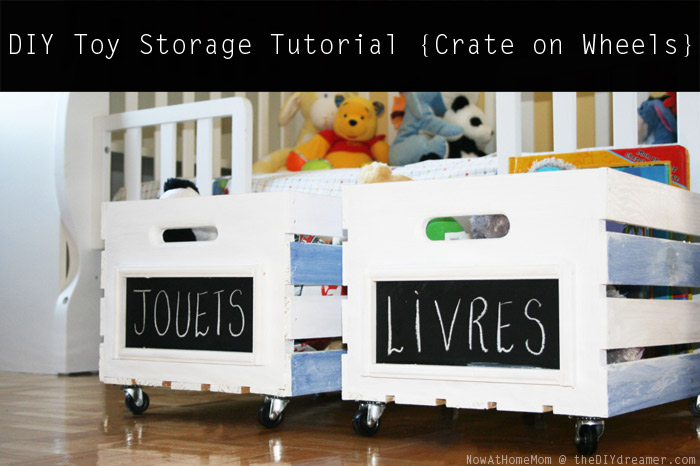 Crate On Wheels Diy Toy Storage Tutorial Cleaning Tips How To