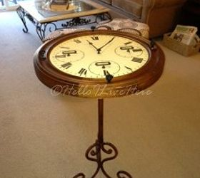 Diy Clock Table, Diy, How To, Painted Furniture, Repurposing Upcycling,  Sealed