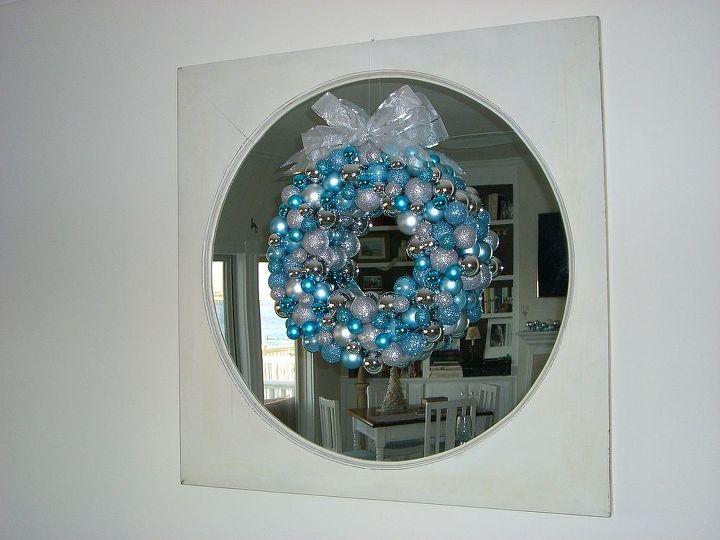 ornament wreath, christmas decorations, crafts, seasonal holiday decor, wreaths