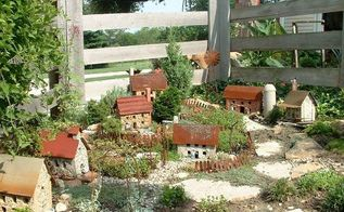 diana s fantastical miniature garden, crafts, gardening, repurposing upcycling, Diana s miniature garden in her mounded garden is weatherproof too