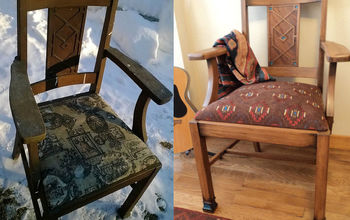 old chair redo, painted furniture, Tutorial