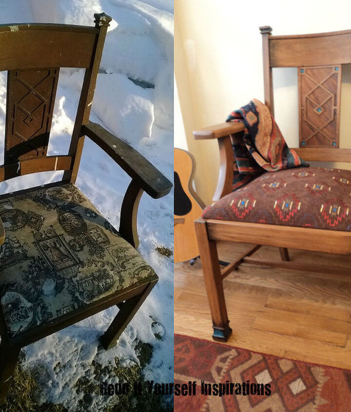 Tutorial:  http://redoityourselfinspirations.blogspot.com/2014/02/old-chair-redo.html