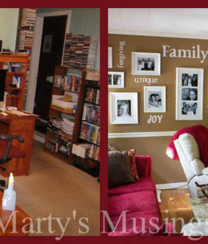 Before and After: from cluttered to beautiful.