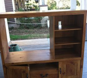 Transform An Old Entertainment Center Into A Dress Up Station, Painted  Furniture, The Before