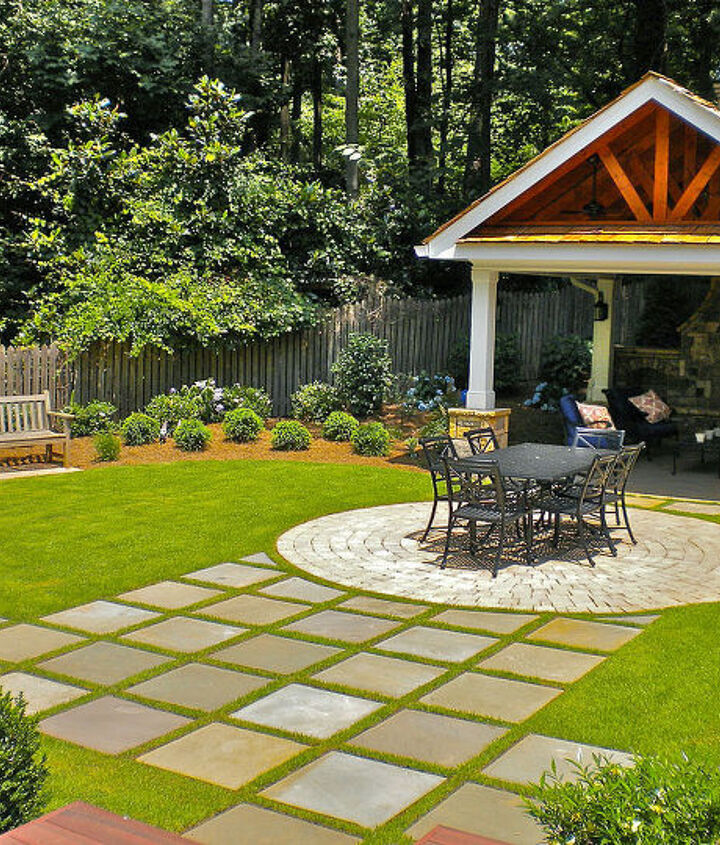 check out this inviting outdoor living space it includes a custom deck around a, decks, outdoor living