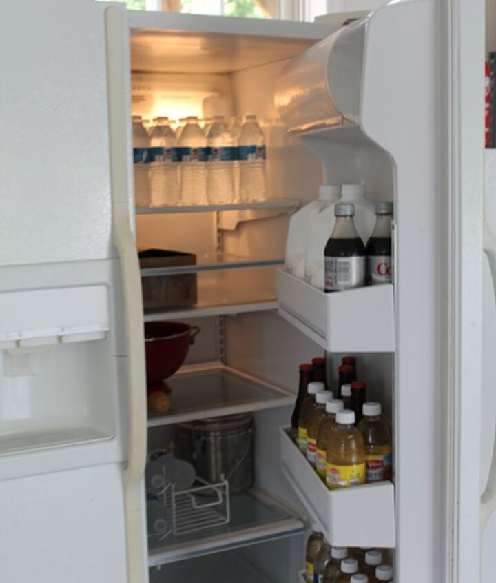 Appliances such as garage refrigerators...clean the exterior, behind and inside so you'll know it's all done!