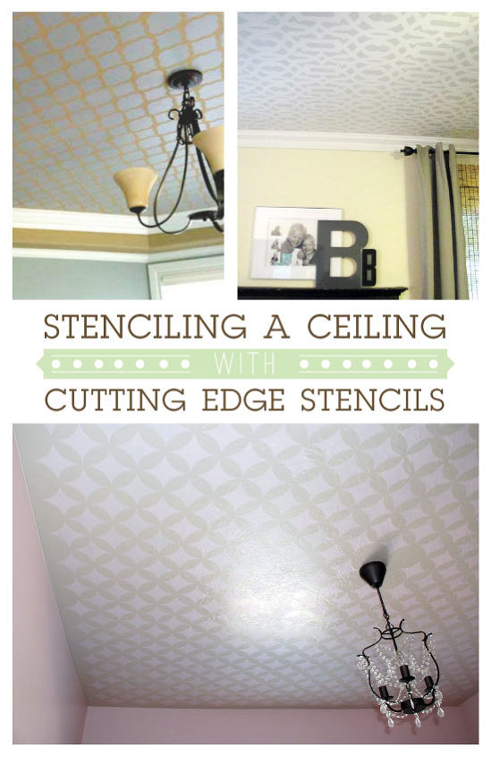 stenciling a ceiling without breaking your neck, painting, wall decor, Stenciling a Ceiling with Cutting Edge Stencils