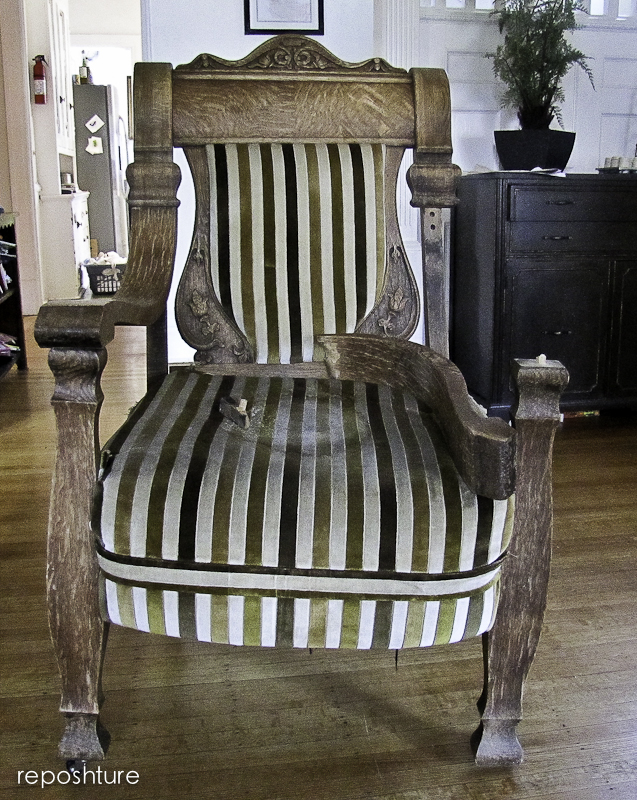 chair transformation, painted furniture