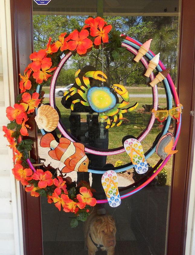 home decor, crafts, home decor, wreaths, My new Summertime Wreath